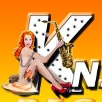 Redhead w/ Jazzy Brass, Mardi Gras Beads, Thigh Holster & Sax