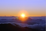 Sunrise from Mt Haleakala (centered)